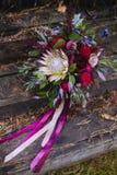 Beautiful wedding bridal bouquet. Stock Photography