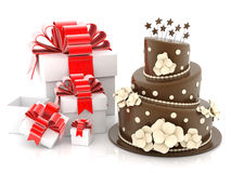 Beautiful wedding cake Stock Image