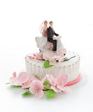 Beautiful wedding cake Stock Photos