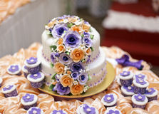 The beautiful wedding cake Stock Photo