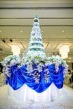 Beautiful wedding cake in ceremony. Stock Image