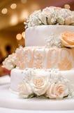 Beautiful wedding cake Royalty Free Stock Photo