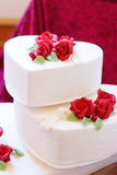 Beautiful wedding cake in different colors with two different le Royalty Free Stock Photos