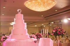 Beautiful wedding cake for event Stock Image