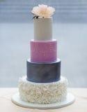 Beautiful wedding cake with flower Royalty Free Stock Photos