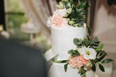 Beautiful wedding cake. Sweet dream. candy bar royalty free stock photos