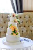 Beautiful wedding cake Royalty Free Stock Photo