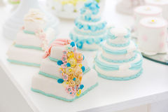 Beautiful wedding cake white Royalty Free Stock Photography