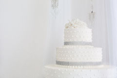 Beautiful wedding cake white stock photography