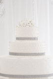 Beautiful wedding cake white stock photo