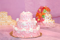 Beautiful Wedding Cakes Stock Photography