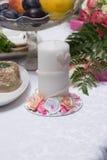 Beautiful wedding candle Stock Photo