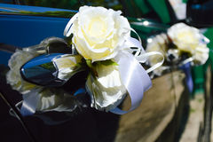 Beautiful wedding car decoration Royalty Free Stock Photos