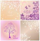 Beautiful wedding cards Stock Photography