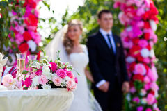 Beautiful wedding ceremony Stock Photos