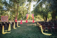 Beautiful wedding ceremony in the park Royalty Free Stock Images