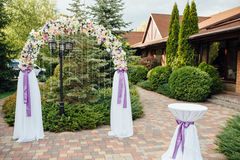 beautiful wedding ceremony in the park Stock Image