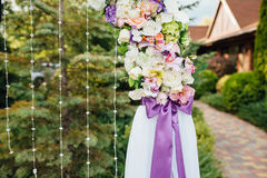 beautiful wedding ceremony in the park Royalty Free Stock Image
