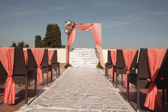 Beautiful wedding ceremony. Summer color effect. Royalty Free Stock Photos