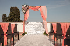 Beautiful wedding ceremony. Summer color effect. Stock Images