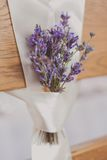 Beautiful wedding chairs lavanda flower Stock Images