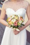 Beautiful wedding colorful nosegay of ranunculus Royalty Free Stock Image