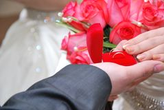 Wedding ring composition royalty free stock images