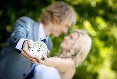 Beautiful wedding couple. Is enjoying wedding Stock Images