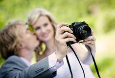 Beautiful wedding couple. Is enjoying wedding Stock Photo