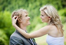 Beautiful wedding couple Stock Photos