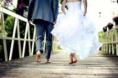 Beautiful wedding couple. Is enjoying wedding Royalty Free Stock Image
