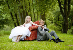 Beautiful wedding couple Stock Photo