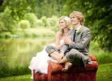 Beautiful wedding couple Stock Image