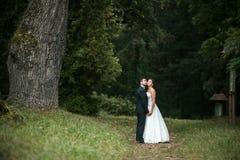 Beautiful wedding couple posing Royalty Free Stock Photos