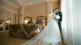 Beautiful Wedding Couple stock footage