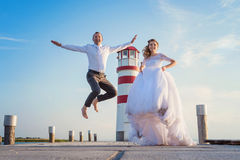 Beautiful wedding couple Stock Image
