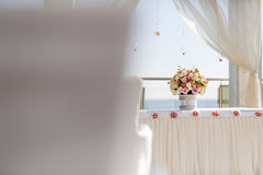 Beautiful wedding decoration with roses Stock Photos