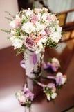 Beautiful wedding decoration set up with flowers. Stock Photography