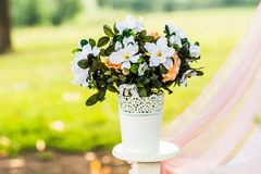 Beautiful wedding decorations Royalty Free Stock Photos