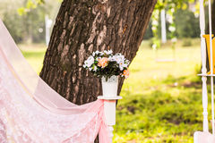 Beautiful wedding decorations Stock Photo