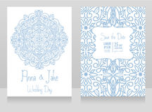Beautiful wedding design with royal ornament Royalty Free Stock Photography