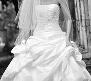 Beautiful wedding dress Stock Photos