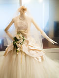 Beautiful wedding dress Stock Images