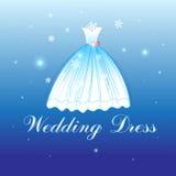 Beautiful wedding dress Stock Photography