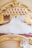 Beautiful Wedding Dress. In Room Stock Photography