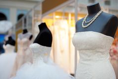 Beautiful wedding dresses Stock Photography