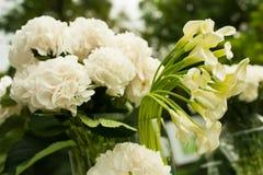 Beautiful wedding floristry outdoors. Royalty Free Stock Photos