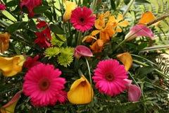 Beautiful wedding flower arrangement of colorful flowers. Beautiful and colorful wedding floral arrangement brightly colored flowers for a wedding Royalty Free Stock Photography