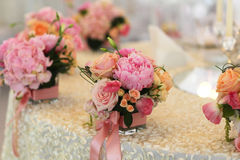 Beautiful wedding flower decoration Royalty Free Stock Images