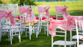 Beautiful wedding flower decorations Stock Image